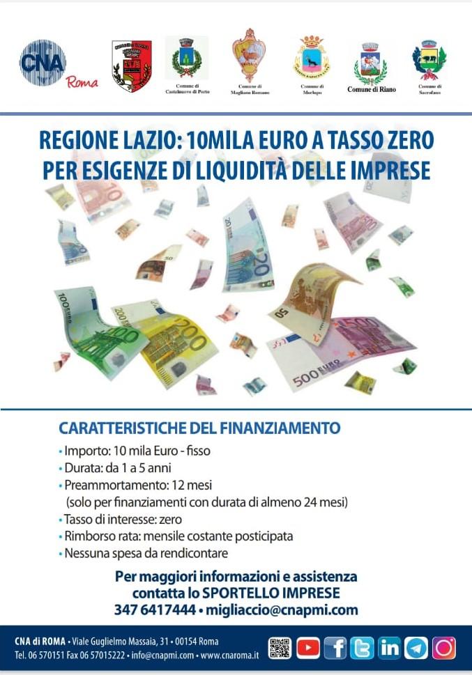 Regione Lazio: emergenza Coronavirus - sostegno alle imprese