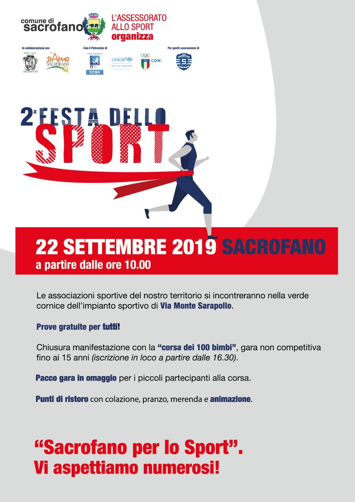 Seconda edizione della Festa dello Sport