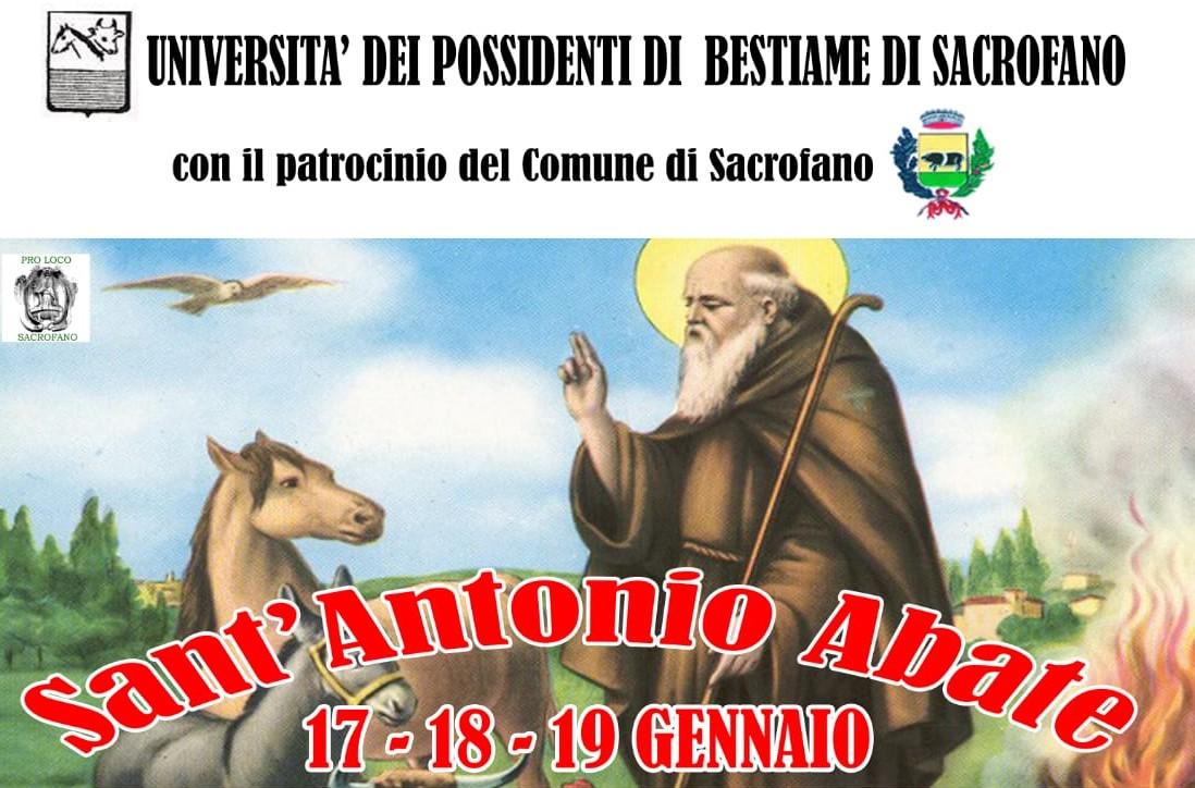 Festa di Sant'Antonio Abate a Sacrofano il 17 - 18 - 19 Gennaio 2020