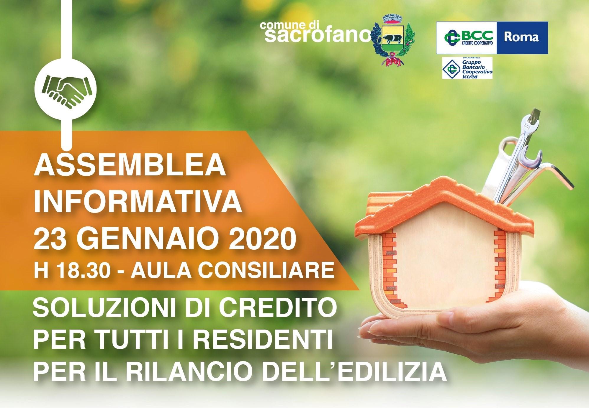 CONVENZIONE LINEE DI CREDITO: TROVATO L'ACCORDO TRA COMUNE E BCC (BANCA DI CREDITO COOPERATIVO).